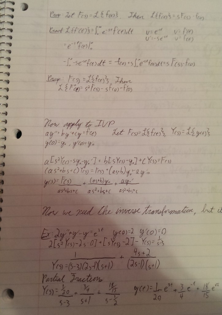Visiting the house I grew up in, I found my old math notebook.
